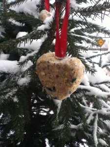Heart-shaped Bird Treat Ornaments